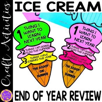 End of Year Ice Cream Fllip book resource