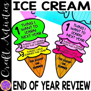 End of Year Ice Cream Fllip book resource