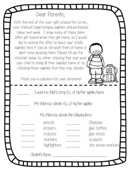 End Of Year Supply Donation Letter By Brandy Withers At Firstie Kidoodles