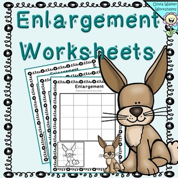 Enlargement Worksheets Scaling Pictures Growing Images