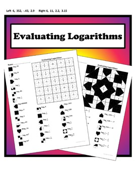 Evaluating Logarithms Color Worksheet By Aric Thomas