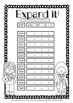 Expanded Form Standard Form Worksheets And Printables By