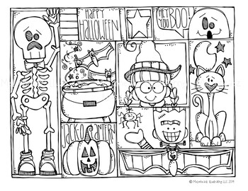 Free Halloween Coloring Page Melonheadz Clipart By Melonheadz Tpt