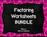 Factoring Boot Camp  Algebra II  by Math by Catherine   TpT Product Thumbnail  Factoring Worksheets BUNDLE