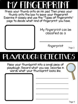 Fingerprint Detective Forensics Experiment Book With