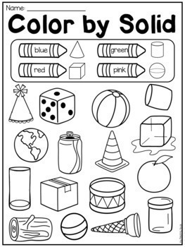 First Grade 2d And 3d Shapes Worksheets By My Teaching Pal