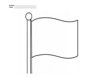 Flag Template Worksheet By Mr Maestro