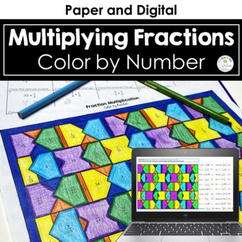 Fraction Multiplication Color By Number For Multiplying