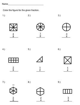 Fractions Worksheet Pack