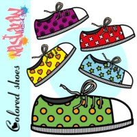 Colored Shoes Clipart