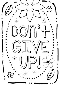 Free Growth Mindset Coloring Sheets By Art Is Basic TpT