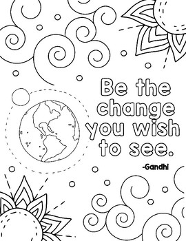 Free Kindness Coloring Pages By Art Is Basic Teachers