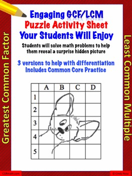 Gcf And Lcm Differentiated Worksheets With Common Core