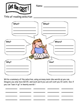 Gist For 2nd And 3rd Grade By Lynne C