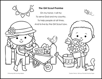 girl scout promise coloring page # 4