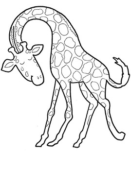 Gerald The Giraffe Coloring Sheet By Preschool Mom Diaries Tpt