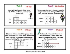 Grade 6 Math Ratios: Tape Diagram Task Cards by Amy W | TpT