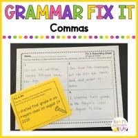 Grammar Fix It - Commas