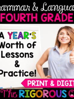 4th Grade Grammar and Language Interactive Notebook