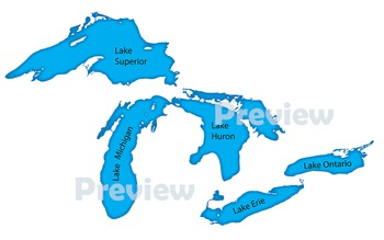 Great Lakes: Clip Art Maps of the Great Lakes by Maps of ...