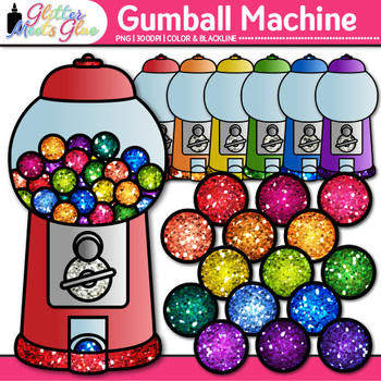 Gumball Machine Clip Art Counting Sorting Graphics Glitter Meets Glue