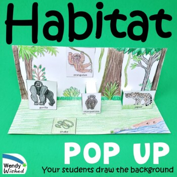 Habitat Of Animals Pop Up Craft Activities 7 Diorama Animal Habitats To Make