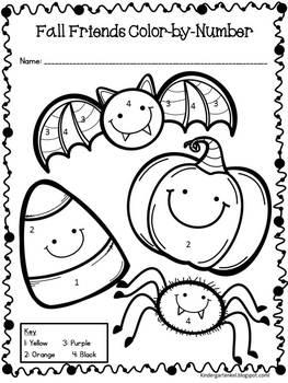 Halloween Color By Number Freebie By Kindergarten Kel Tpt