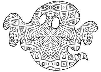 Halloween Zentangle Amp Mandala Coloring Pages By Debbie