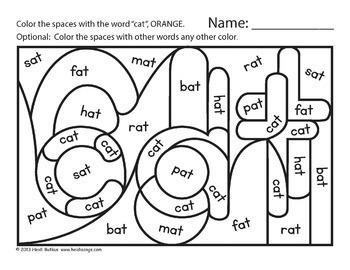 Hidden Cvc Word Family Worksheets Vol 1