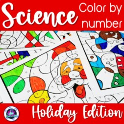Holiday Themed Science Color-by-Number Bundle