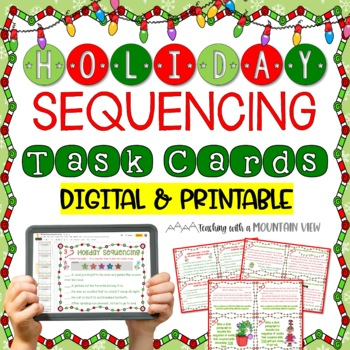 Holiday Sequencing Task Cards Winter And Christmas TpT