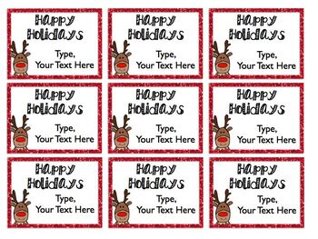 Holiday And Christmas Gift Tags EDITABLE Freebie By Free