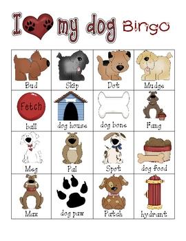 I Love My Pet BINGO By Jan Brady Teachers Pay Teachers