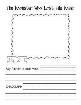 I Think Monsters Are Opinion Writing Worksheets By