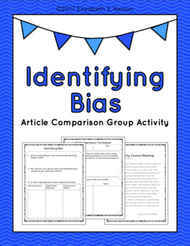 Identifying Bias Article Comparison Group Activity By