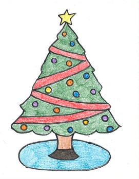 Christmas Tree Coloring Sheet Worksheets Teaching Resources Tpt
