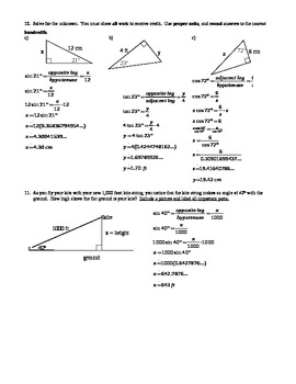Introduction To Trigonometry Worksheet
