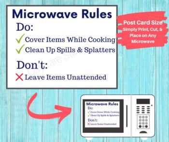 keep area clean signs 3 printable signs for fridge microwave break rooms