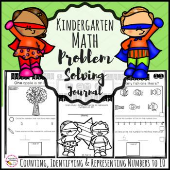 Numbers to 10 Kindergarten Math Journal