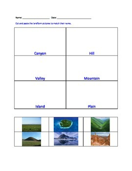 Landform Worksheet Set By Erin Zaleski