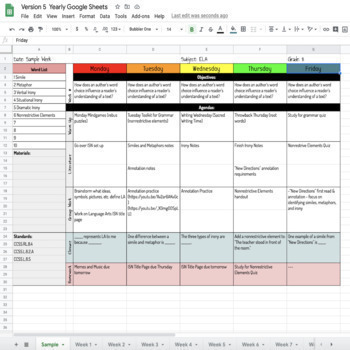 Lesson Plan Templates Google Digital Resource TpT