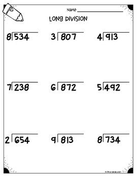 Image Result For Long Division Worksheets