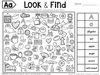 find the alphabet # 1