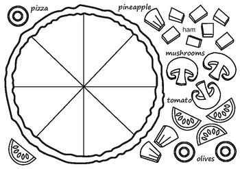 Make A Pizza Worksheet By Just The Art Teacher Teachers