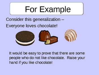 Making Generalizations Power Point Lesson By Dijobaker