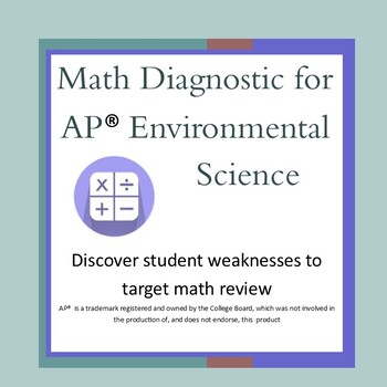 Math Review Diagnostic for AP Environmental Science