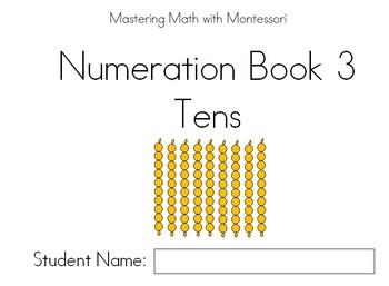 Montessori Bead Bar Book 3 Tens By Lisa Steele TpT