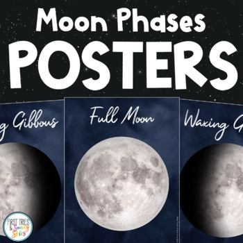 moon phases posters 3 printable versions moon phase decor