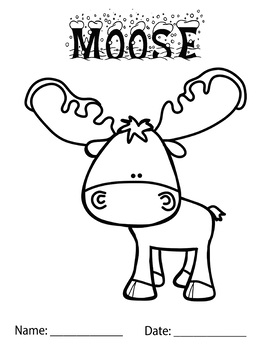 moose coloring page # 16