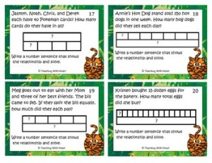 Multiplication & Division Strip Diagrams (TapeDiagrams)Scoot ActivityTask Cards
